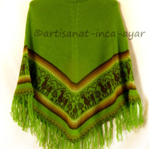 Poncho fille taille 10/13 ans vert pomme